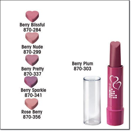 Avon Color Trend Valentine's Day Lipstick ~ Berry Nude ~ Discontinued Heart Shaped Lip Stick
