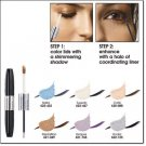 Avon Shimmer Shadow and Liner Duo ~ Tuxedo ~ Discontinued Eyeshadow Eye Shadow