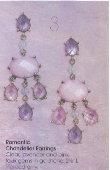 Avon Romantic Chandelier Earrings ~ Goldtone Gemstone Costume  Jewelry