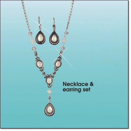Avon Vintage Pastel Y Necklace Gift Set NIB