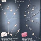 Avon Sterling Silver Genuine Pink Freshwater Pearl 3 Piece Set in Pouch Jewelry Costume Christmas