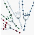 Avon Shades of Brights Y Necklace Gift Set Silvertone Blue Jewelry Costume Christmas