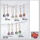 Avon Presents Hoop Earrings in Red Gift Box ~ Pierced ~ Blue Costume Jewelry Christmas Gift