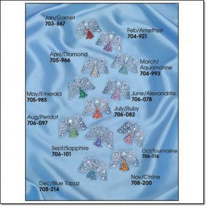 Avon Heavenly Angel Birthstone Tac Pin September Sapphire Brooch loc15