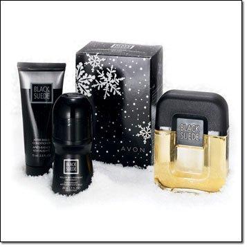 Avon Black Suede Holiday Gift Set Cologne After Shave