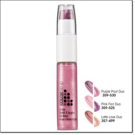 Avon COLOR TREND LIP DUO Lipstick & Lip Gloss ~ Pink Fizz ~ Discontinued Lip Stick