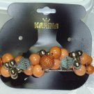 KARINA HAND BEADED WOOD BARRETTE~HAIR JEWELRY BARRETTE~DESIGNER