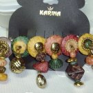 KARINA BEADED BARRETTE~COLORFUL HAND BEADED DANGLING BEADS HAIR JEWELRY BARRETTE