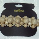 KARINA HAND BEADED FAUX MARBELIZED STONE LOOK HAIR JEWELRY BARRETTE