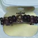 KARINA~DESIGNER HAND BEADED HAIR JEWELRY BARRETTE~DARK Olive GREEN