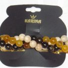 EARTH TONES HAND BEADED BARRETTE HAIR JEWELRY~ KARINA DESIGNER BARRETTE