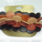 KARINA~WOOD BEADED BARRETTE~HAIR JEWELRY BARRETTE
