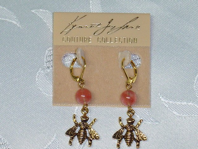 AUTHENTIC~KENNETH JAY LANE~COUTURE BEE CHANDELIER EARRINGS