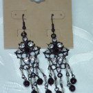 ERICA LYONS BLACK & WHITE~RHINESTONE CHANDELIER EARRINGS~NEW