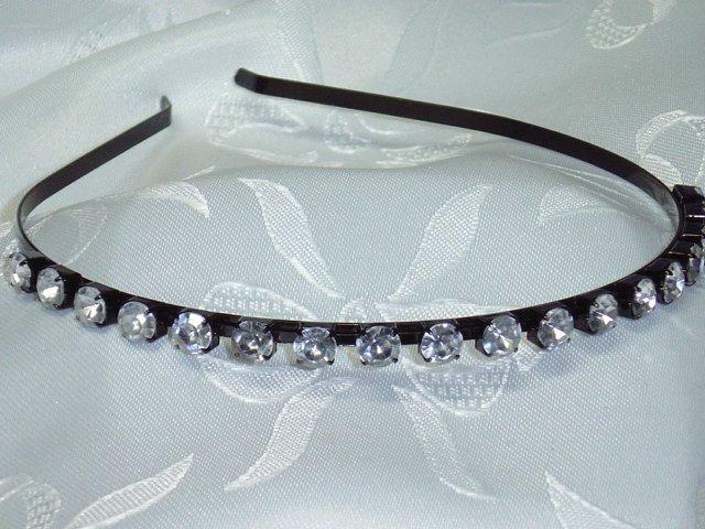 Sparkling Rhinestone Diva Headband black band hair band BLING