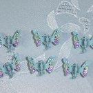 Powder blue multicolor rhinestone mini hair claw clip fascinators