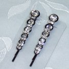 Swarovski crystal elements bobbi pin pair perfect for dark hair- bridal and special occasion