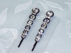 Swarovski crystal elements bobbi pin pair perfect for dark hair- bridal and special occasion