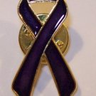 50 PURPLE CANCER AWARENESS RIBBON LAPEL PINS RELAY FOR LIFE