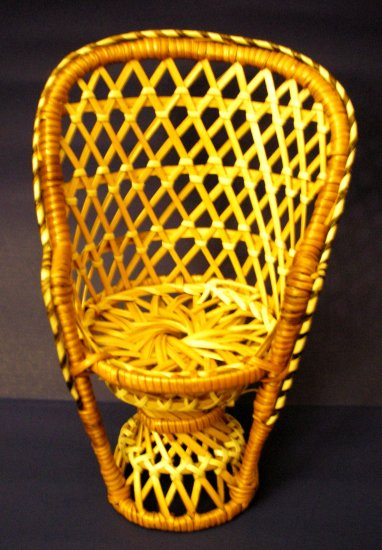 Rattan Chair for dolls