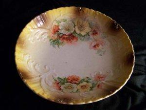Vintage Flower Plate - East Liverpool Potteries Co.