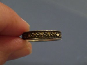 Vintage Sterling Silver & Marcasite Ring Band Size 5.5