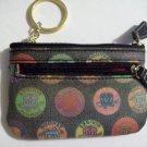 DOONEY & BOURKE Small Black Medallion Coin Card Slot Key Holder Case