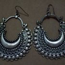 EXOTIC Bollywood Middle Eastern Kuchi Sari Bollywood Style Heavy Metal Dangle Earrings
