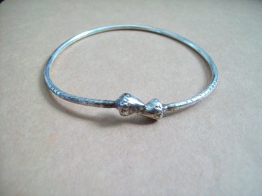 Sterling Silver Jamaican Barabados West Indies Style Cuff Wrap Bypass Bangle Bracelet