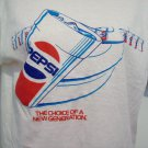 Vtg Style PEPSI Choice of a New Generation Blue White Red SS Ringer T Tee Shirt by Screen Stars M