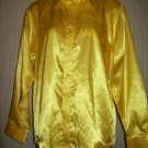 Bright Sunshine Yellow Satin LS Fancy Stylish SpectactularButton Front Collar Dressy Shirt BOYS L 16
