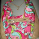 DISNEYstore Mickey Pattern MultiColor Beach Hobo Bag Purse Tote Carry