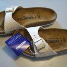 BIRKENSTOCK Madrid Shiny Iridescent Snake Birko Flor Sandal Shoe Size 38 Narrow