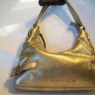 MICHAEL KORS Vintage BROOKVILLE Metallic Gold Leather Shoulder Hobo Satchel Bag Purse