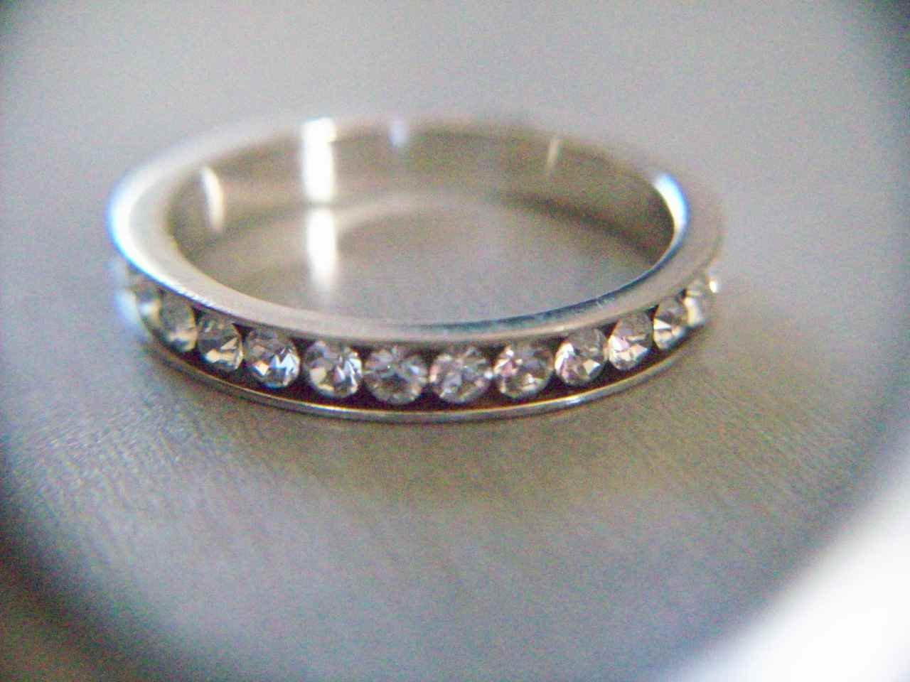 Sterling Silver 925 Cubic Zirconia CZ Eternity Band Ring Size 7