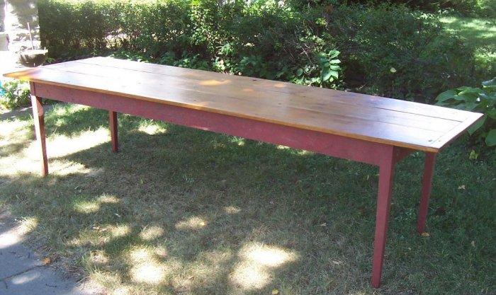 harvest table in reclaimed pine