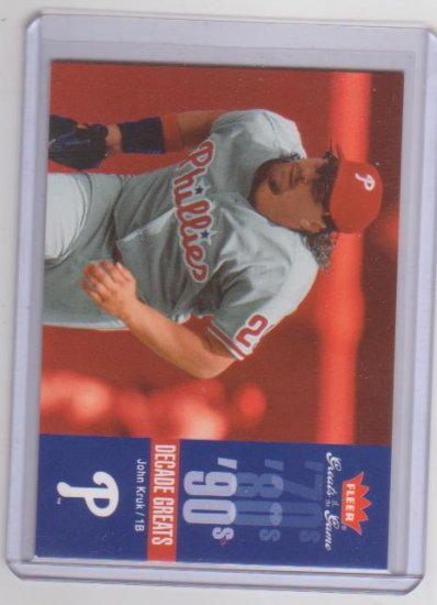 JOHN KRUK 2006 FLEER GREATS GAME DECADE GREATS