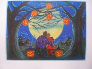 "Halloween Art Print ""Making Magic"""