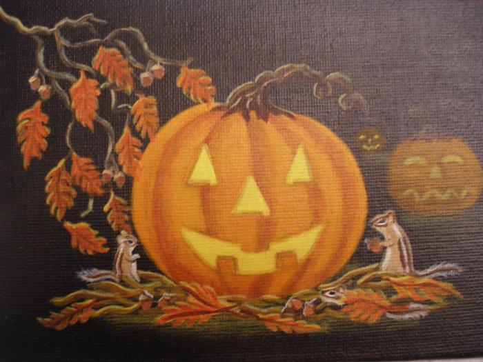 """Art Print Halloween  """"Autumn Surprise"""""""