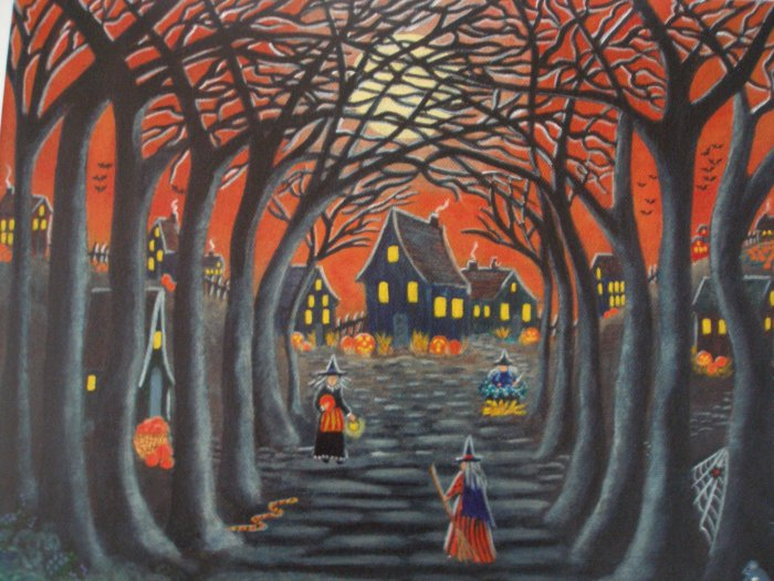 Art Print Halloween  Home to Broomtree