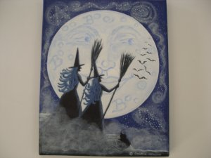Halloween Art Print  Conjuring Constellations