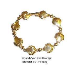 Signed Avon Shell Motif Bracelet