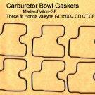 Bowl Gaskets, Viton-GF. Honda Valkyrie GL1500C GL1500CD GL1500CT GL1500CF