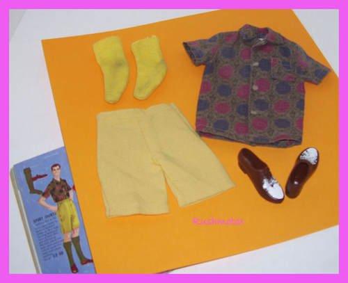 Vintage BarbieDoll Ken Sport Shorts Set #783 Tagged