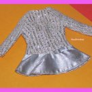 Vintage Barbie Doll Silver Sparkle #1885 Tagged Dress