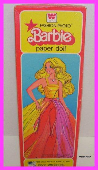 1979 Barbie Doll Whitman Fashion Photo Paperdoll Set EC