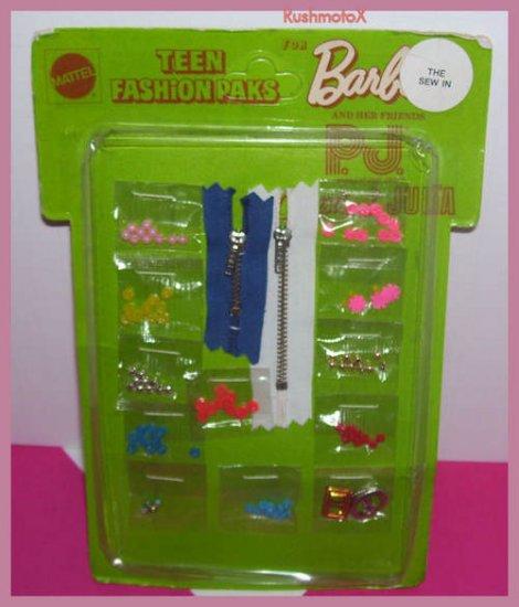 Teen Fashion Pak Barbie Doll The Sew In 1970 NIP Mattel