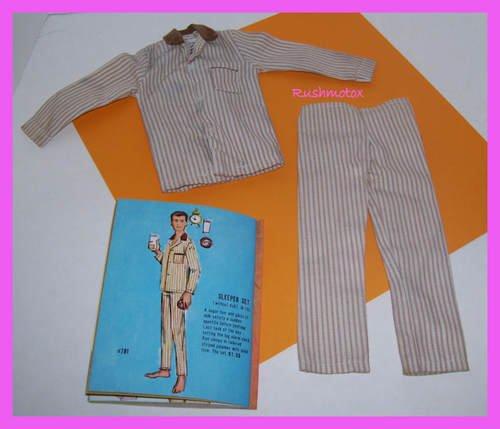 Vintage Ken Barbie Doll Sleeper Set Pajamas #781