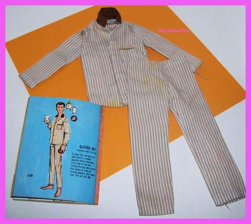 Vintage Ken Barbie Doll Sleeper Set #781 Pajamas LotB