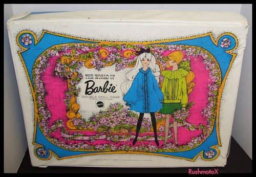 Vintage Mod 1968 World of Barbie Doll Large Double Case